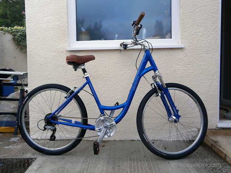 Bicycle with the Handle Bars the Wrong way Round (Right View)